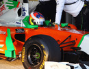 Paul di Resta leaves the pits in the Force India