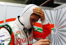 Paul di Resta prepares for a run in the Force India