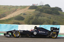 Rubens Barrichello out on track at Jerez
