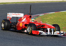 Fernando Alonso set the fastest time in the early outings
