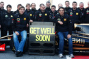 The Renault team sends a message of support to Robert Kubica
