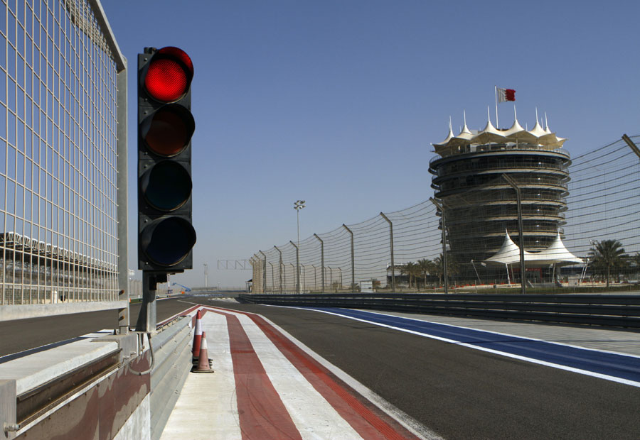 A deserted track in Bahrain - the GP2 Asia series was cancelled because of escalating violence in the state
