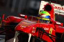 Felipe Massa heads down the pit lane