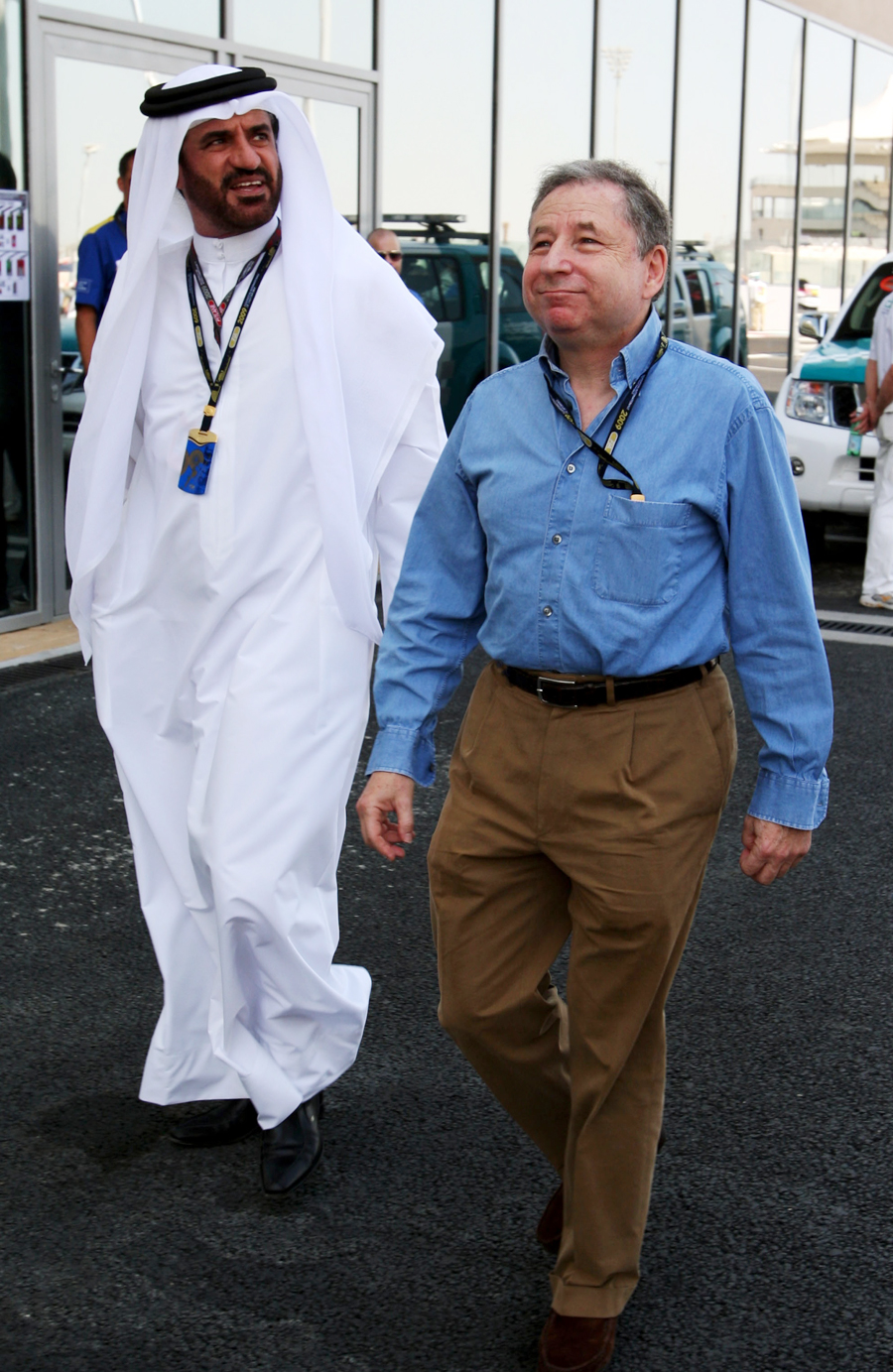 Mohammed Bin Sulayem  with Jean Todt