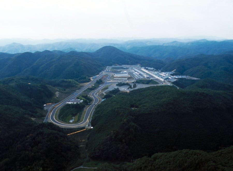 The T1 Aida Circuit nestled in mountains outside Kobe