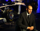 Williams rookie Pastor Maldonado talks at the livery launch of the Williams FW33