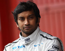 Narain Karthikeyan in the pit lane