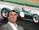 Nigel Mansell attends the opening of a Lotus showroom