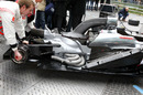 A detail on the MP4-26 at the media launch