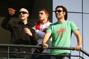 Paul di Resta with his cousins Marino and Dario Franchetti