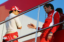 Felipe Massa gets debriefed by his race engineer Rob Smedley
