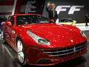 Ferrari president Luca di Montezemolo at the presentation of the new Ferrari FF road car