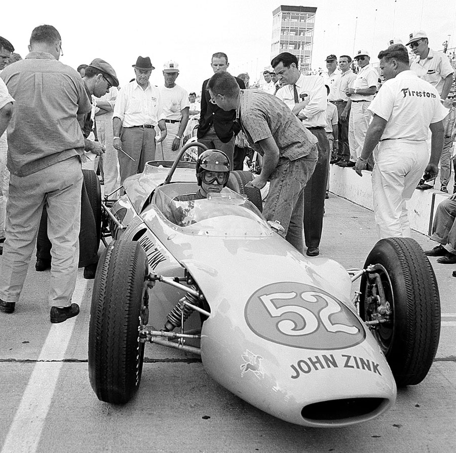 Dan Gurney at the wheel of John Zink Trackburner powered by a Boeing gas turbine engine