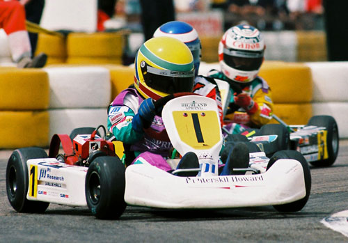Lewis Hamilton raced in karts from an early age