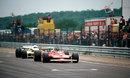 Gilles Villeneuve leads Rene Arnoux at Dijon