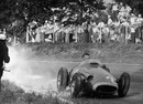 Juan Manuel Fangio finished second at the 1957 Italian GP