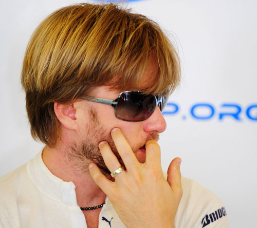 Nick Heidfeld at his last race for BMW
