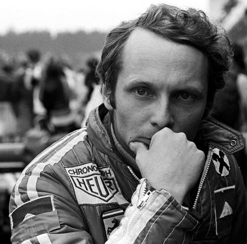 Niki Lauda before the accident in which he suffered life-threatening burns