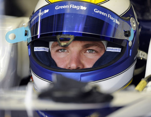 Nico Rosberg prepares to go out on track
