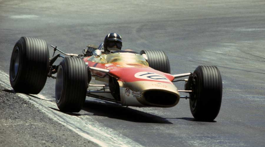 Graham Hill on his way to victory in Spain