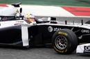 Pastor Maldonado at the wheel of the Williams FW33 on his birthday