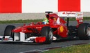 Felipe Massa turns in the Ferrari 150th Italia
