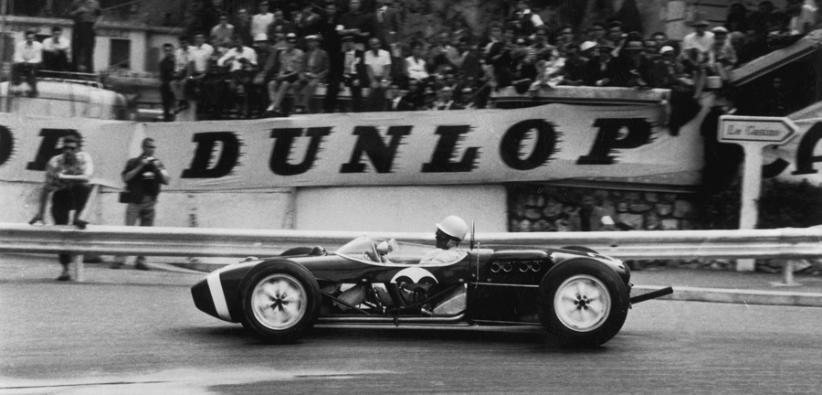 Stirling Moss on his way to a remarkable win at Monaco