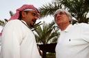 Bernie Ecclestone chats with Shaikh Salman Bin Hamad Al Khalifa