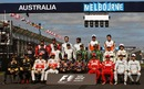 All of the drivers line up for the traditional pre-season photograph on Sunday morning in Melbourne