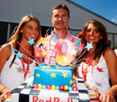 Red Bull helps David Coulthard celebrate his 40th birthday