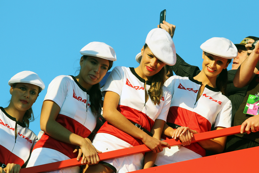 Grid girls at Albert Park