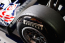 Hard Pirelli tyres on the Red Bull