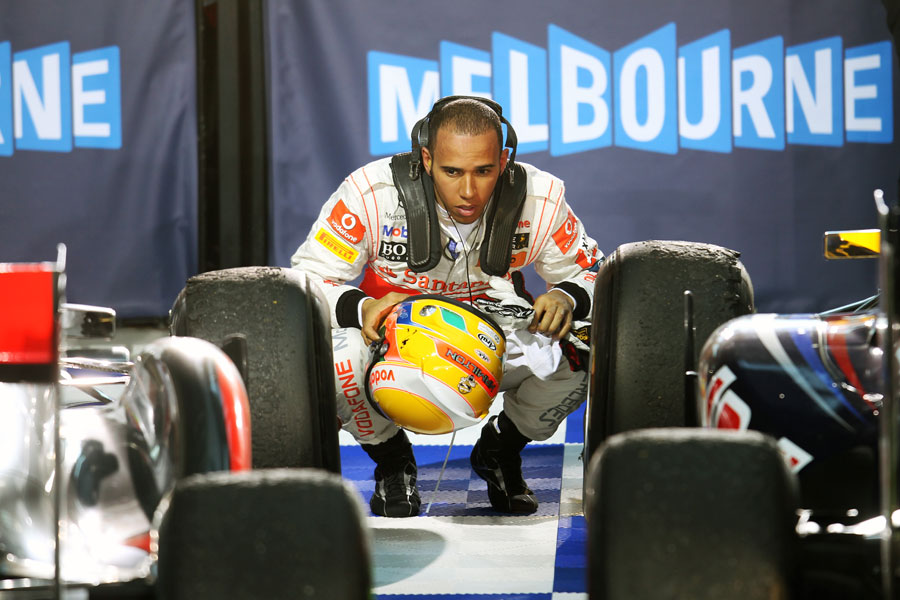 Lewis Hamilton compares his McLaren with Sebastian Vettel's Red Bull