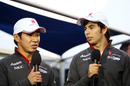 Kamui Kobayashi and Sergio Perez talk to the BBC after the race