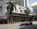 David Coulthard drives a Red Bull in downtown Kuala Lumpur