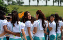 Petronas grid girls on Sunday morning