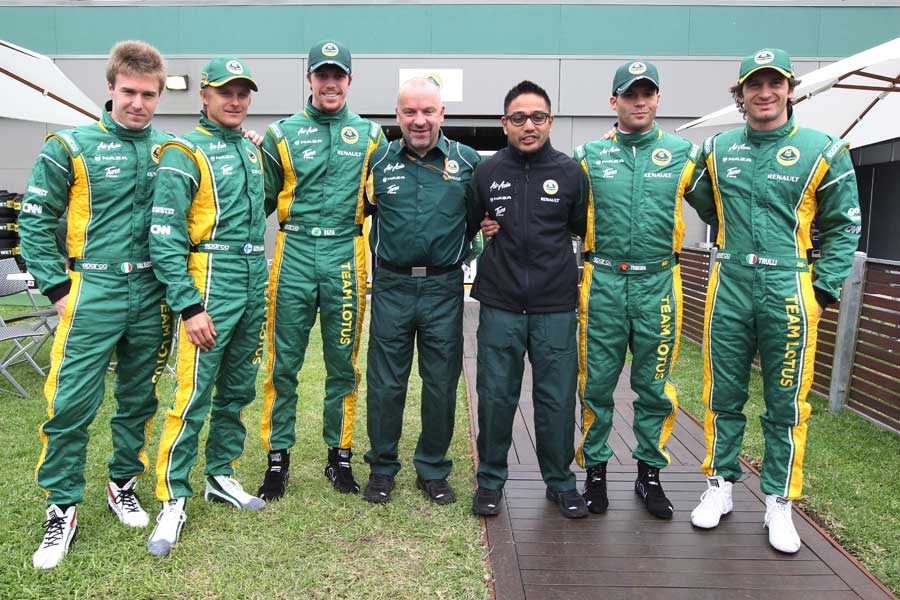 Lotus displays five of its six drivers in Melbourne