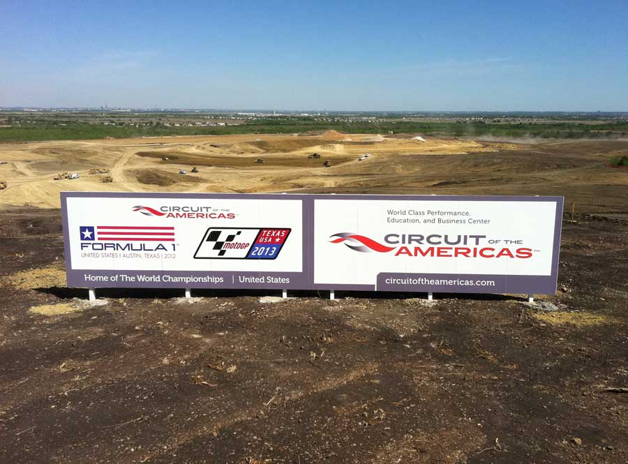 The track is named as work continues on the new circuit in Austin