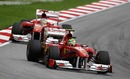 Felipe Massa heads Fernando Alonso, Malaysian Grand Prix, Sepang, April 10, 2011