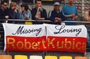 Fans show their support for Robert Kubica