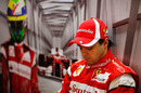 Felipe Massa pauses for thought between sessions