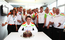 Paul Di Resta celebrates his 25th birthday with the Force India team