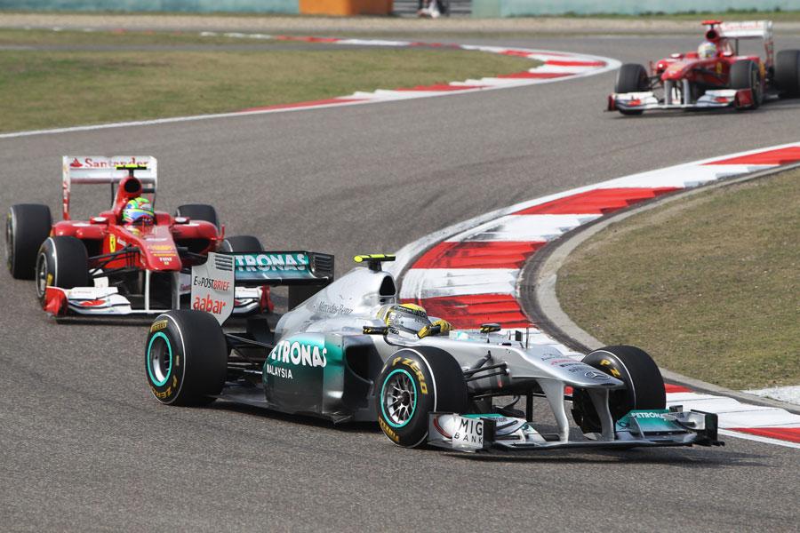 Nico Rosberg leads Felipe Massa