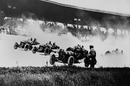 The start of the first Indianapolis 500