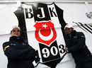 Tonio Liuzzi and Narain Karthikeyan at the Besiktas Football Club training ground