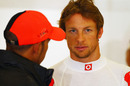 Jenson Button reflects on a disappointing qualifying session with Lewis Hamilton