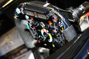 The Renault steering wheel in parc ferme