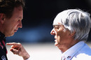 Bernie Ecclestone has a word with Christian Horner