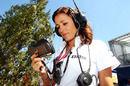 The BBC's Natalie Pinkham keeps an eye on the action