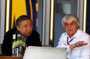FIA president Jean Todt meets with Bernie Ecclestone